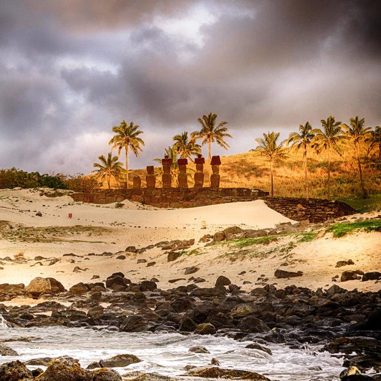 Playa Anakena Isla de Pasuca