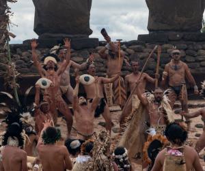 ceremonia conmemoración en Anakena